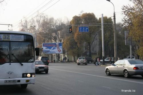 Перекресток ул. Байзакова - угол. ул. Тимирязева