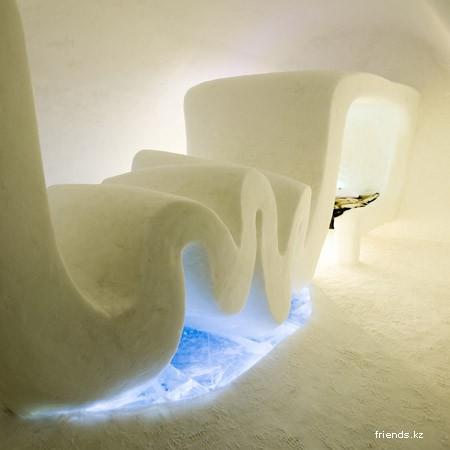 Ледяная гостиница в Швеции
