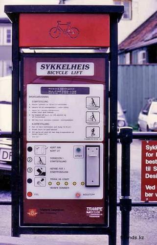 Лифт для велосипедистов в Норвегии