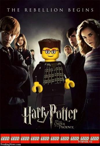 Известные постеры в исполнение конструктора Lego