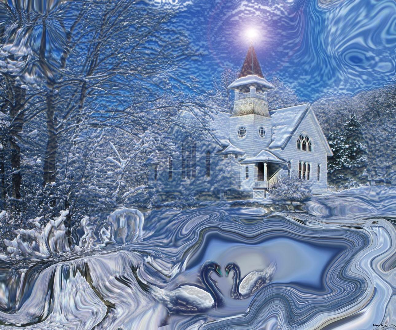Открытки на зиму фото