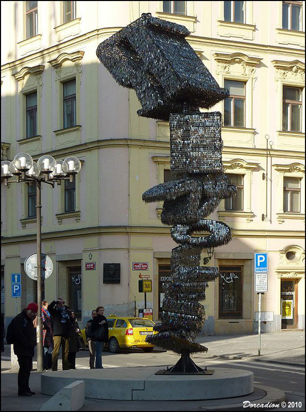 This impressive key sculpture was unveiled on March 9, 2010 in Prague