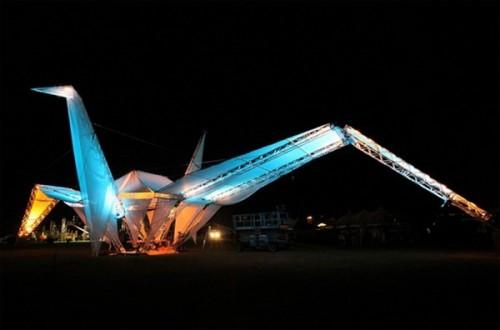 Самое большое оригами в мире