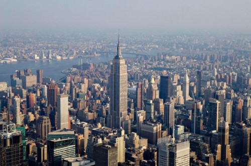 Нью-Йорк с высоты птичьего полета