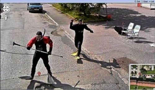 Классные фотки на Google Street View