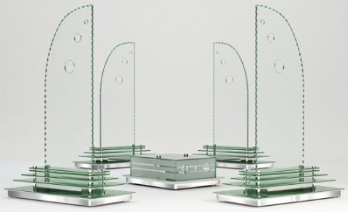 Колонки из стекла