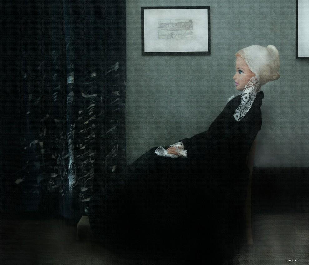 Черная издевается над белой 8 фотография