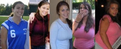 Девчонки до и после не соблюдения диет