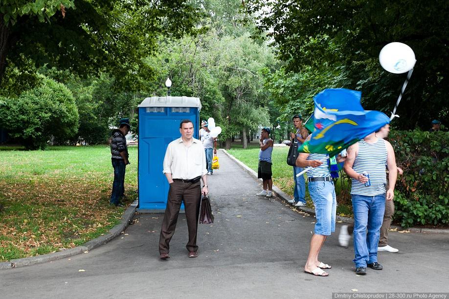 Фото-отчет о том как прошел день ВДВ в Москве в 2011 году.