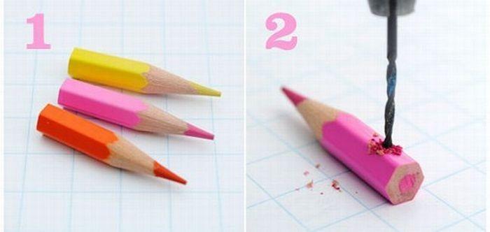 Алматинские друзья Версия для печати Украшения из цветных карандашей