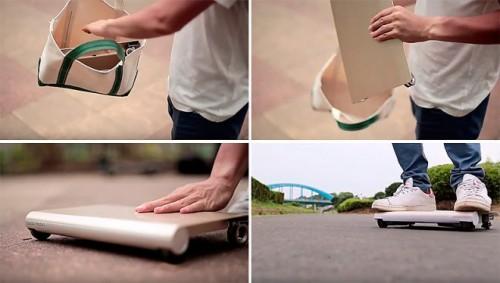 Японец разработал личный транспорт, помещающийся в рюкзаке
