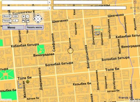 карта алматы + с улицами