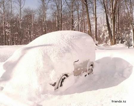 В Штатах опять все завалило снегом