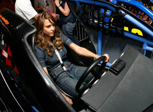 Jessica Alba At The Coca-Cola 600